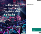 Five things you can learn from Eurovision about referencing