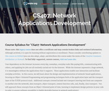 Network Applications Development