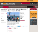Principles of Oceanographic Instrument Systems -- Sensors and Measurements (13.998), Spring 2004