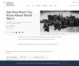 See How Much You Know About World War II