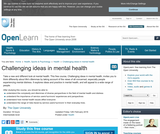 Challenging Ideas in Mental Health