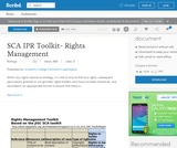 SCA Intellectual Property Rights (IPR) Toolkit- Rights Management