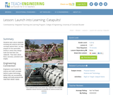 Launch into Learning: Catapults!