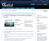 HYSPLIT Applications for Emergency Decision Support