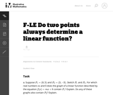 Do Two Points Always Determine a Linear Function?