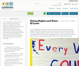 Voting Rights and Voter ID Laws