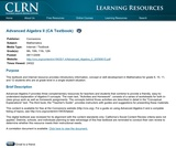 Advanced Algebra II (CA Textbook)
