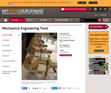 Mechanical Engineering Tools, January (IAP) 2004
