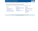 AAAS Science Assessment ~ Topics