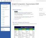 English Composition: Argumentation Moodle course shell