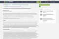 IMLS Fellowship Course, Creating Alternative School Library Environments, Creating Alternative School Library Environments