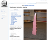 Montessori Activities: Maths