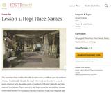 Lesson 1. Hopi Place Names