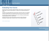 Evaluating Your Course