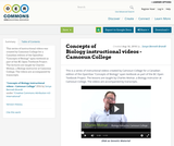 Concepts of Biology instructional videos - Camosun College