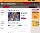 Principles of Engineering Practice, Spring 2010
