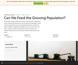 Can We Feed the Growing Population?