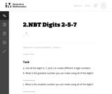 Digits 2-5-7