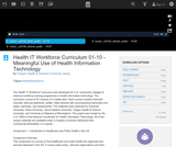 Meaningful Use of Health Information Technology