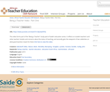 Being a Teacher: Part 1