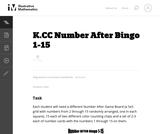 Number After Bingo 1-15