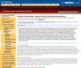 Political Psychology - Public Political Attitudes Assignment