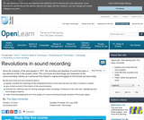 Revolutions in Sound Recording