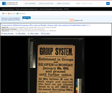 Group System. Enlistment in Groups Will Re-Open On Monday, January 10th, 1916, and Proceed Until Further Notice. [...]