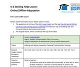 K-2 Seeking Help Lesson (Online/Offline Adaptation)