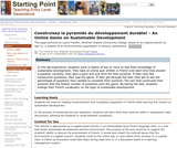 Construisez la pyramide du dÃveloppement durable! - An Online Game on Sustainable Development