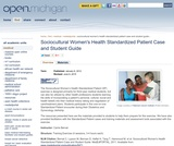 Sociocultural Women's Health Standardized Patient Case and Student Guide