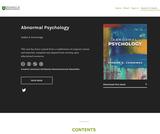 Abnormal Psychology - University of Saskatchewan