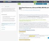 Ideal Deaf Classroom, Advanced-Mid, ASL