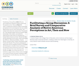 Facilitating a Group Discussion: A Brief Survey and Comparative Analysis of Native American Perceptions in Art, Then and Now