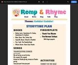 Romp & Rhyme Storytime Lesson Plan: Gobble, Gobble!