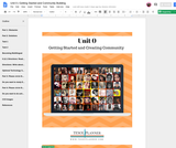 Getting Started and Creating Community Unit
