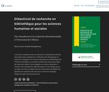 Didacticiel de recherche en bibliothèque pour les sciences humaines et sociales