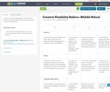 Creative Flexibility Rubric—Middle School