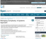 Managing Complexity: A Systems Approach