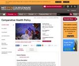 Comparative Health Policy, Fall 2004
