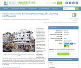 Earthquakes Living Lab: Locating Earthquakes