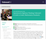 Operations & Algebraic Thinking: Unbound | A Guide to Grade 1 Mathematics Standards