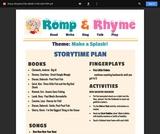 Romp & Rhyme Storytime Lesson Plan: Make a Splash!