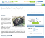 Work and Power: Waterwheel