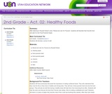 2nd Grade-Act. 02: Healthy Foods