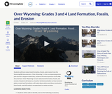 Over Wyoming: Grades 3 and 4 Land Formation, Fossils, and Erosion