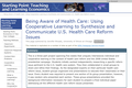 Being Aware of Health Care: Using Cooperative Learning to Synthesize and Communicate U.S. Health Care Reform Issues