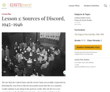 Lesson 1: Sources of Discord, 1945-1946