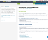 Occupational Education & English