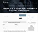Resources: Nanotechnology and the NAE grand challenge Restore and Improve Urban Infrastructure